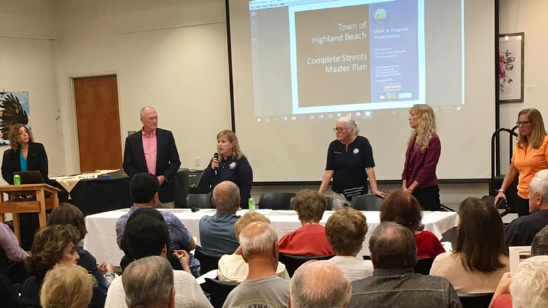 Commissioner Attends Highland Beach Meeting
