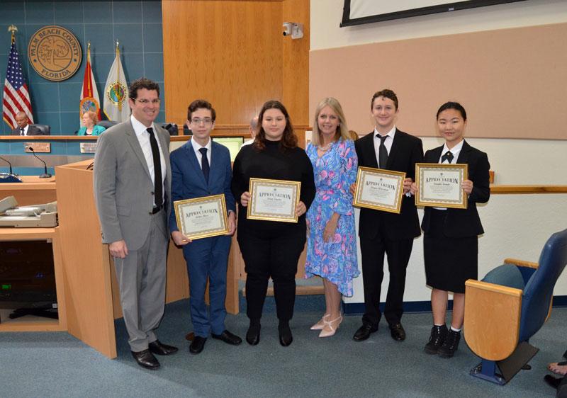 Alexander W. Dreyfoos High School Students Recognized