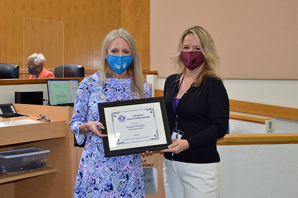Commissioner McKinlay Earns NOW Award
