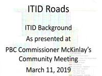 ITID Roads Presentation
