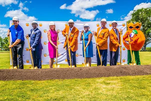 Mayor Attends Orange Bowl Field Groundbreaking at Glades Pioneer Park