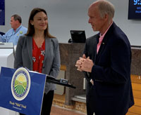 Agriculture Commissioner Inspects Baggage Scale at PBIA