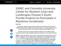 100RC and Columbia University