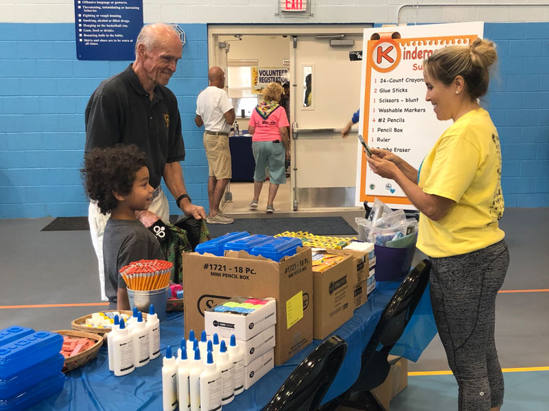 Commissioner Valeche joined the 2019 Back to School Bash at the West Jupiter Recreation Center