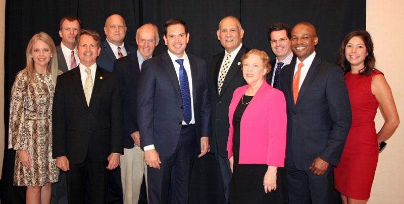 County Officials Welcome U.S. Senator Marco Rubio