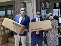 Free Masks Distributed for Local Hospitality Workers