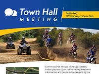 District 6 Town Hall Meeting - Off Highway Vehicle Park