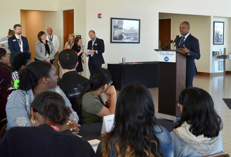Mayor Attends Careers in Aviation Day Held at PBIA