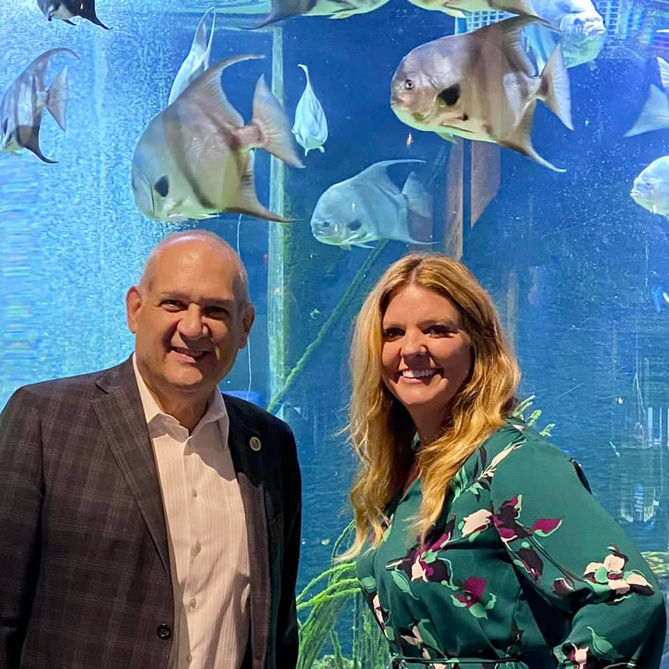 Vice Mayor Robert Weinroth and CEO of the South Florida Science Center and Aquarium Kate Arrizza.