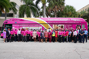 Palm Tran Debuts Susan G. Komen Florida and Frontline Faces Taking You Places Buses