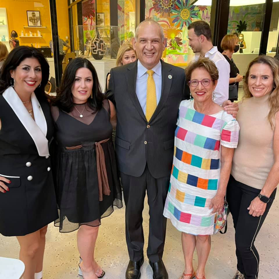 Pictured here (l to r) are City of Boca Raton Councilwoman Yvette Drucker, Heather Shaw, Vice Mayor Robert Weinroth, Margaret Blume and Jennifer Kraatz.