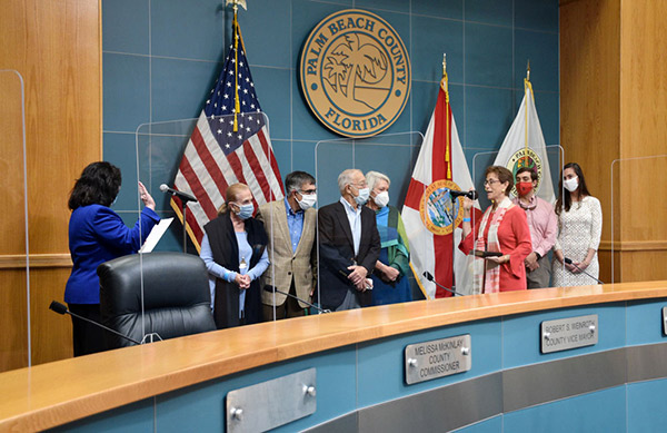 Commissioner Marino Takes Oath of Office