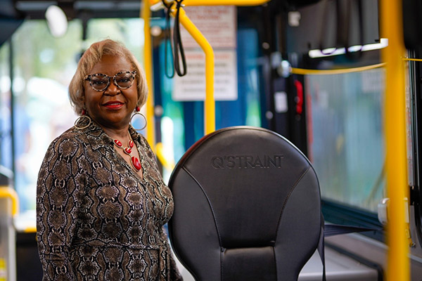 Touch-free Wheelchair Securement on Palm Tran Buses