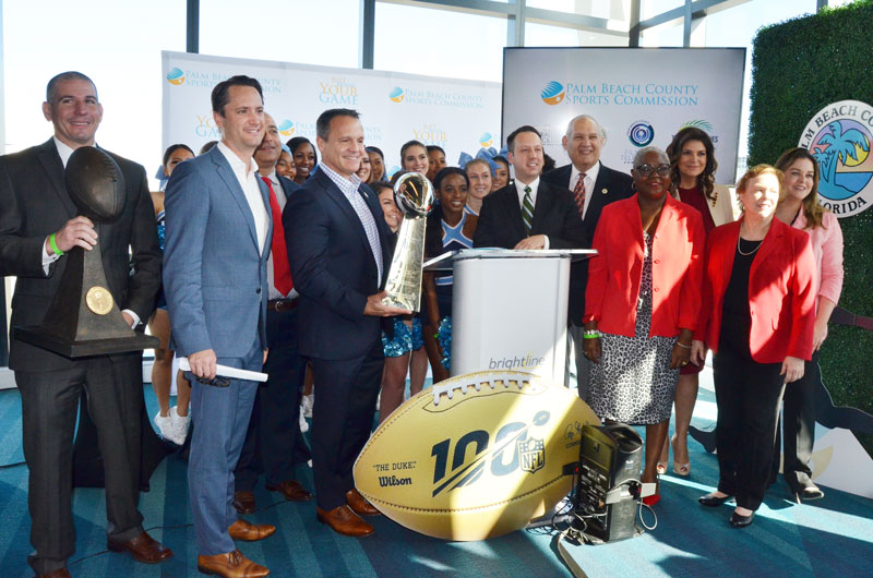 Commissioners Attend Miami Super Bowl Host Committee Press Conference