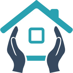 House and hands holding it