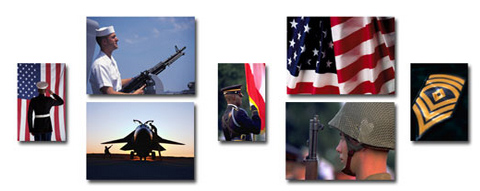 collage images of various veterans