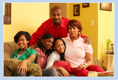 happy african american familiy photo
