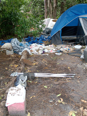 The Homeless Outreach team (HOT) visits a homeless