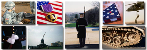 Collage - Various pictures of veterans