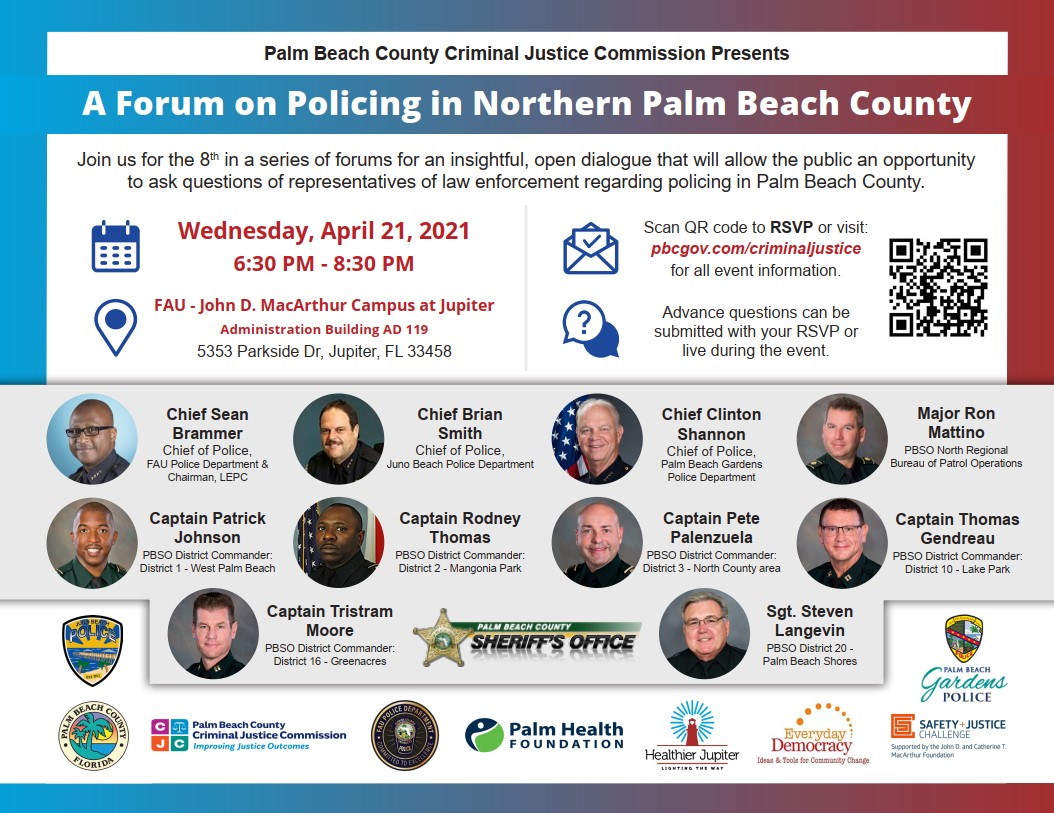 CJC Policing Forum - Northern Palm Beach County