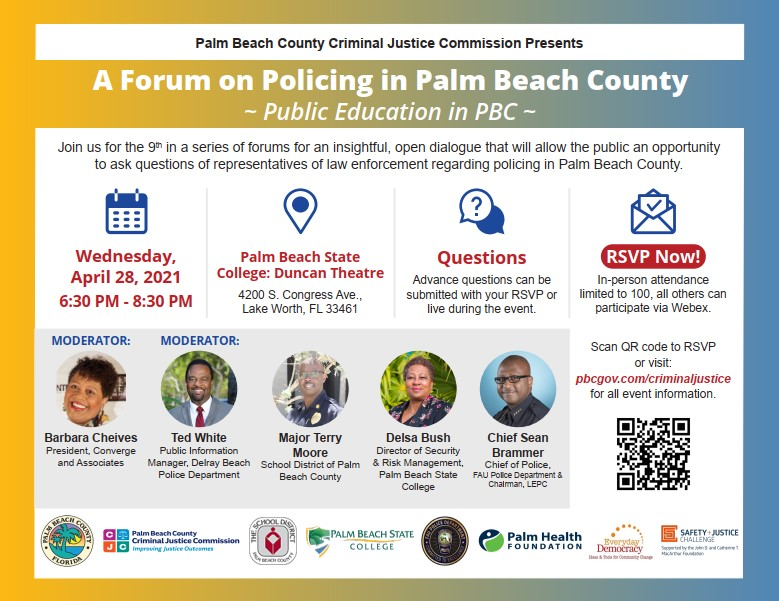 CJC Policing Forum - Public Education in PBC