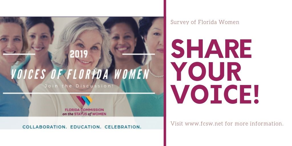 2019 Voices of Florida Women, Click to respond to survey