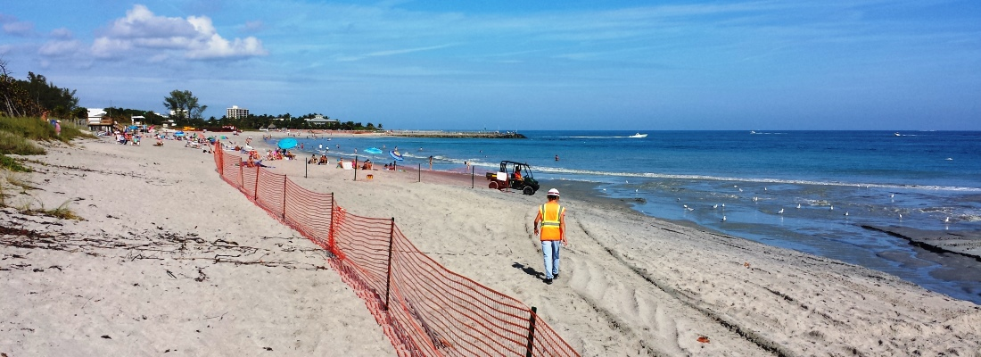 Picture of beach construction project