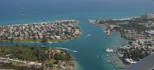 Aerial Picture of Jupiter Inlet