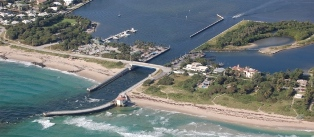 Aerial Image of South Lake Worth (Boynton) Inlet