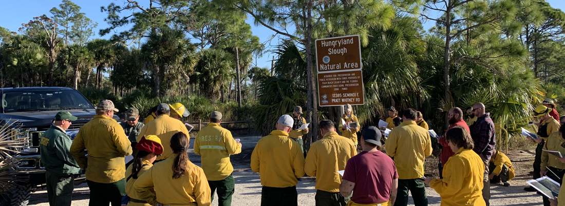Burn Boss Giving Prescribed Fire Briefing to Burn Crew