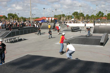 group of skateboarders