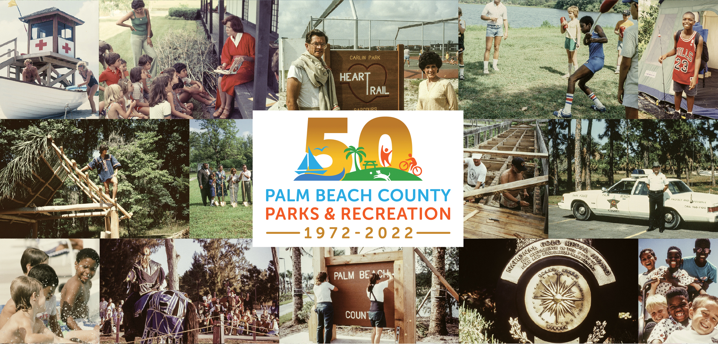 collage of photos featuring people, animals and parks
