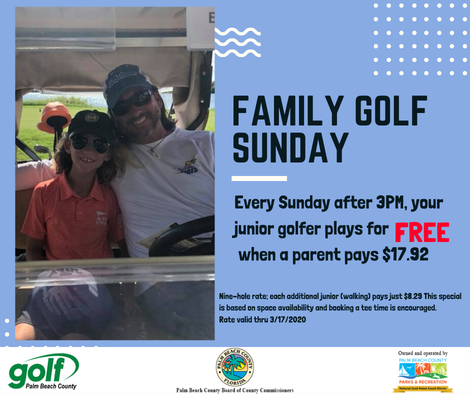 family golf sunday flyer