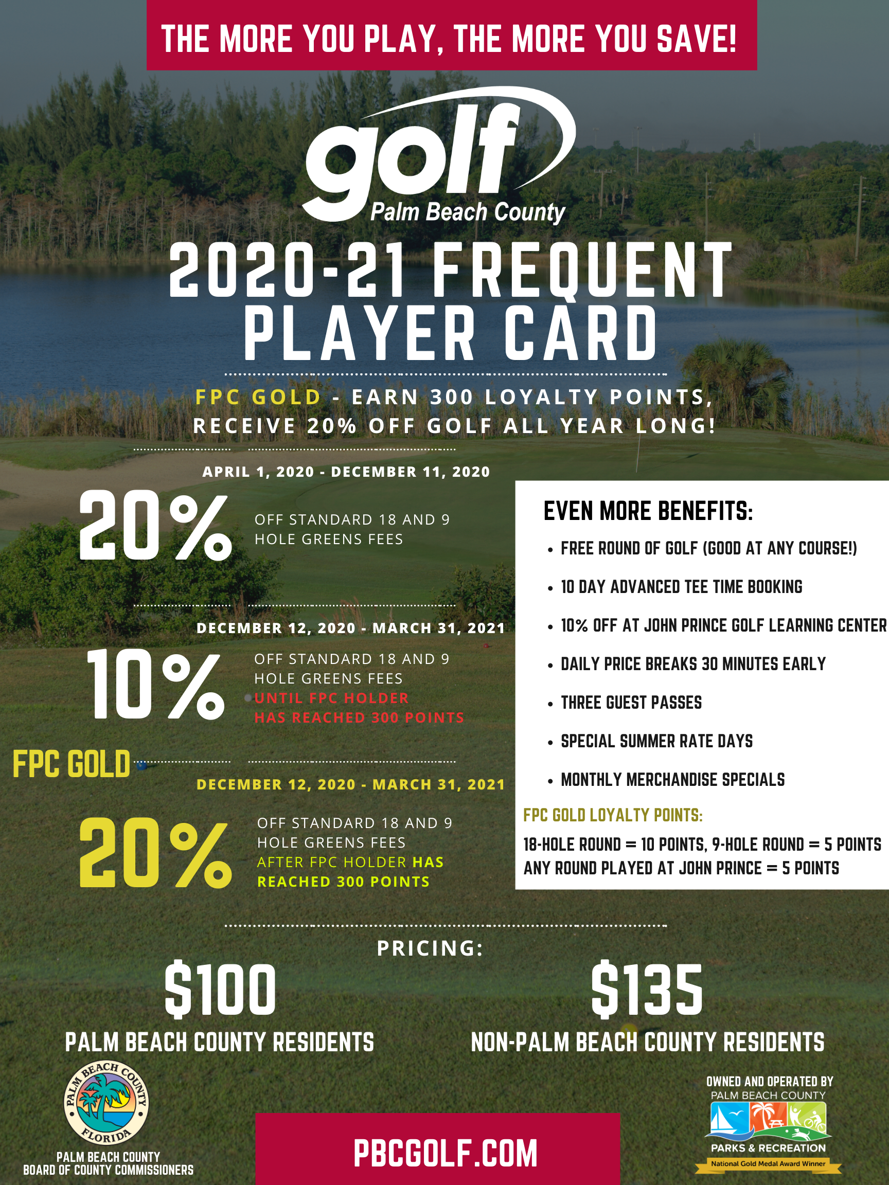 frequent player card flyer