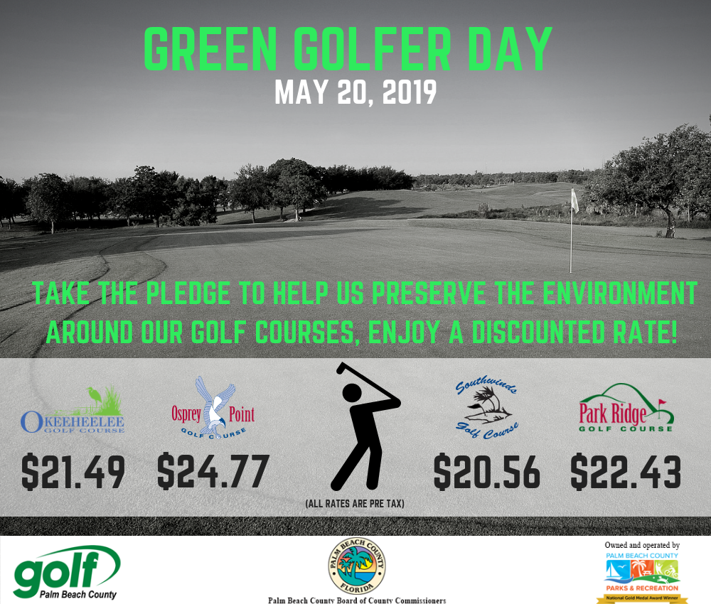 green golfer day flyer