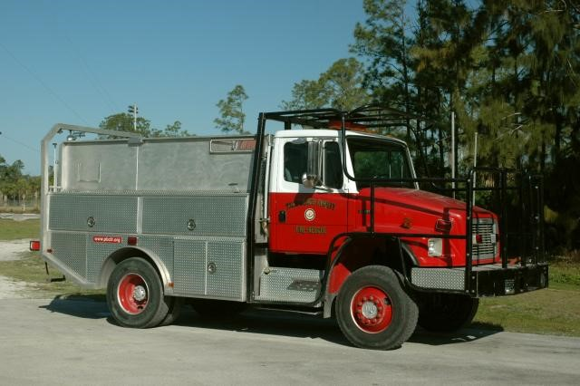 Type of Unit:  Brush Station:  14 Year Built:  2001 Manufacturer:  Ferrara Chassis:  Freightliner FL-80 Water Capacity:  750 gallons  Pump Rate:  500 gallons per minute