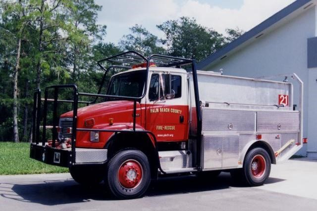 Type of Unit:  Brush Station:  21 Year Built:  2001 Manufacturer:  Ferrara Chassis:  Freightliner FL-80 Water Capacity:  750 gallons  Pump Rate:  500 gallons per minute