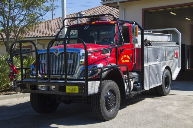 Type of Unit:  Brush Station:  27 Year Built:  1998 Manufacturer:  Ferrara Chassis:  Freightliner 3-D Water Capacity:  750 gallons  Pump Rate:  500 gallons per minute