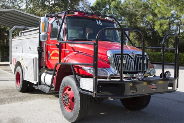 Type of Unit: Brush Station: 16 Year Built: 2012 Manufacturer: International Chassis: Freightliner FL-80 Water Capacity: 750 gallons  Pump Rate: 500 gallons per minute