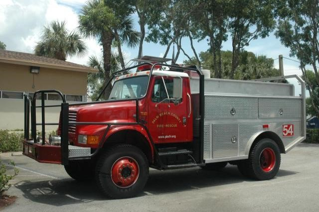 Type of Unit:  Brush  Station:  54  Year Built:  2013  Manufacturer:  Ford  Chassis:  International  Water Capacity:  750 gallons   Pump Rate:  500 gallons per minute