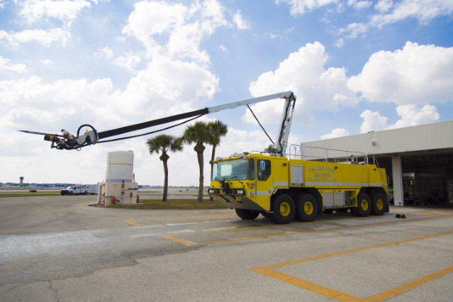 Type of Unit: Dragon  Station: 81  Year Built:  2006  Manufacturer:  E-One  Chassis:  Titan HPR  Water Capacity:  3000 gallons   Pump Rate:  2050 gallons per minute   Foam Capacity:  400 gallons