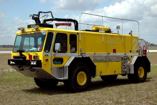 Type of Unit: Dragon  Station: 81  Year Built: 2009  Manufacturer:  Oshkush  Chassis:  Titan Crash Truck  Water Capacity:  1500 gallons   Pump Rate:  1850 gallons per minute   Foam Capacity:  200 gallons