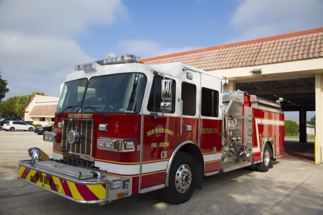 Type of Unit: Engine Station:  42 Year Built:  2012 Manufacturer:  Sutphen Chassis:  Freightliner FL-80 Water Capacity:  750 gallons  Pump Rate:  1250 gallons per minute