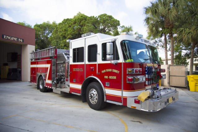 Type of Unit:  Engine  Station:  54  Year Built:  2009  Manufacturer:  Sutphen  Chassis:  Freightliner FL-80  Water Capacity:  750 gallons   Pump Rate:  1250 gallons per minute   Foam Capacity:  15 gallons