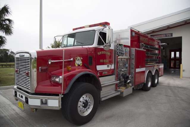 Type of Unit:  Engine  Station: 72  Year Built:  2006  Manufacturer:  E-One  Chassis:  Typhoon Custom Cab  Water Capacity:  750 gallons   Pump Rate:  1250 gallons per minute   Foam Capacity:  15 gallons