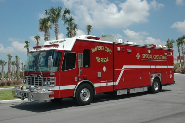 Type of Unit:  Special Operations  Station:  34  Year Built:  2001  Manufacturer:  Ferrara  Chassis:  Intruder Heavy Rescue