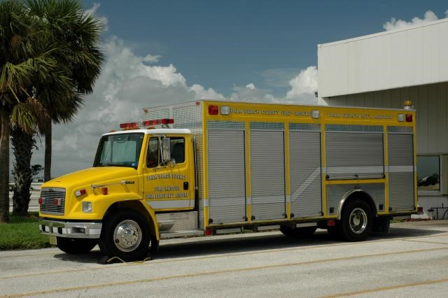 Type of Unit:  MCI Support Unit  Station:  81  Year Built:  1999  Manufacturer:  Ferrara  Chassis:  Freightliner FL-70 Heavy Rescue
