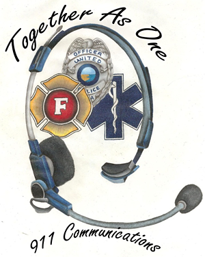 Together as One - 911 Communications Logo