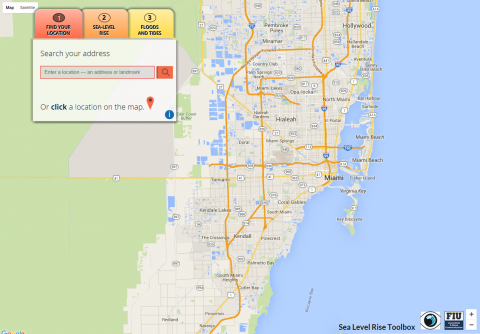 Thumbnail of FIU Sea Level Rise Tool
