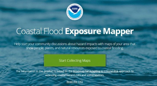 Thumbnail of NOAAs Coastal Flood Exposure Mapper
